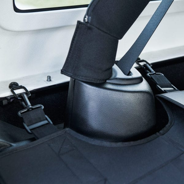 Jeep Wrangler tie-down D-ring mounting points