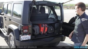 Jeep Wrangler Unlimited cargo cover video