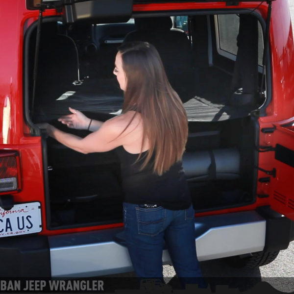 Jeep Wrangler 2DR cargo cover three configurations
