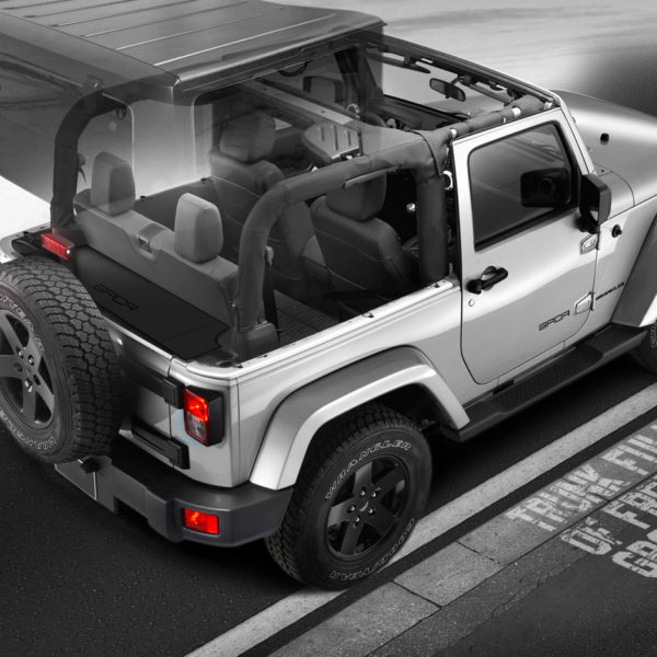 jeep wrangler jk 2dr cargo cover seat up