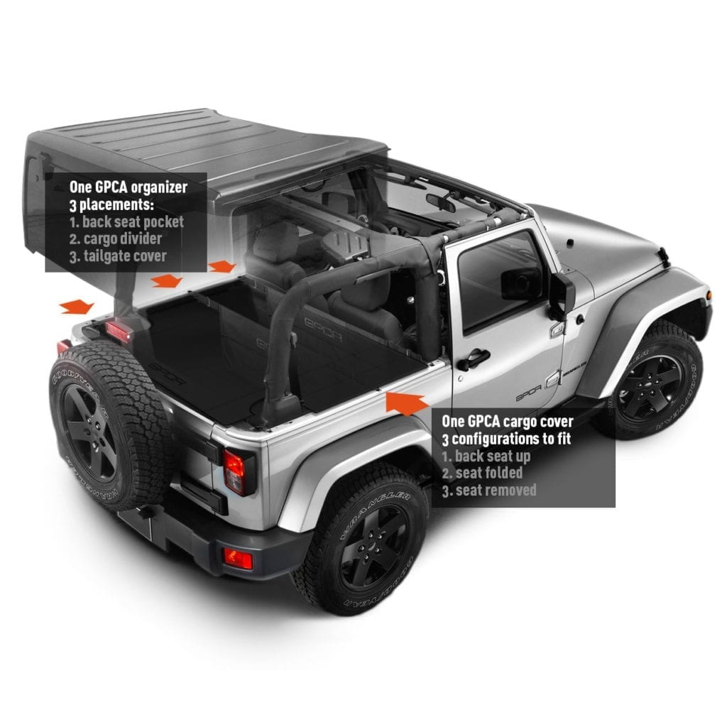Jeep Wrangler For Sale Bay Area: GPCA Jeep Wrangler Trunk Cargo Freedom Pack LITE And PRO
