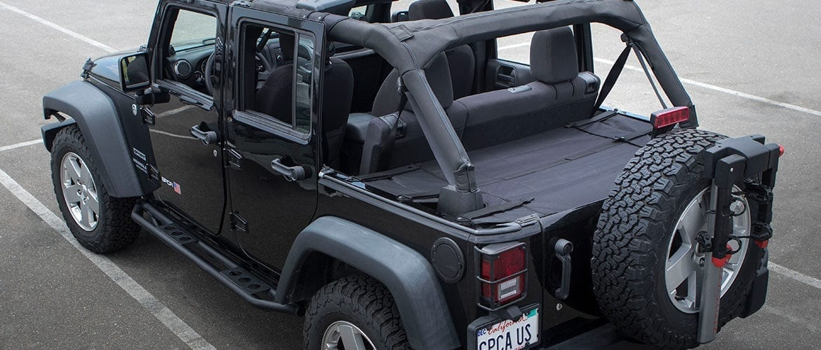 cargo jeep pro gpca wrangler topless trunk covers covered bolt action grab handle reversible