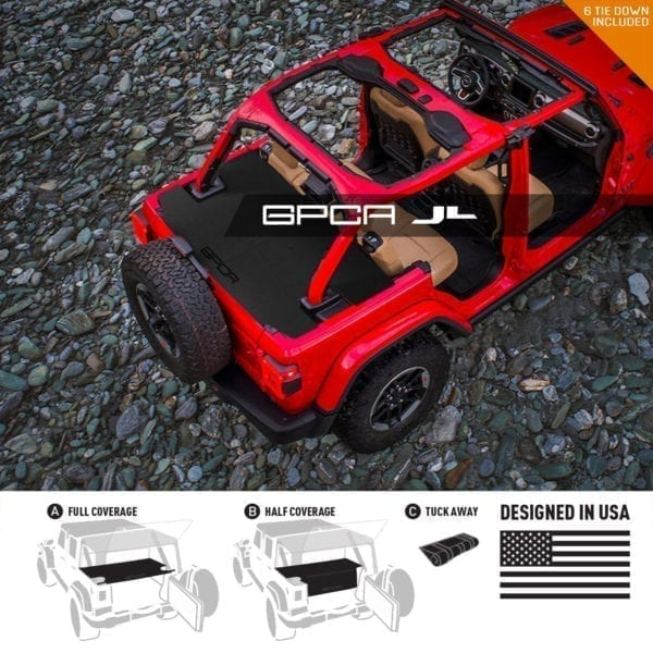 2018 Jeep Wrangler JL Unlimited Cargo Cover GPCA